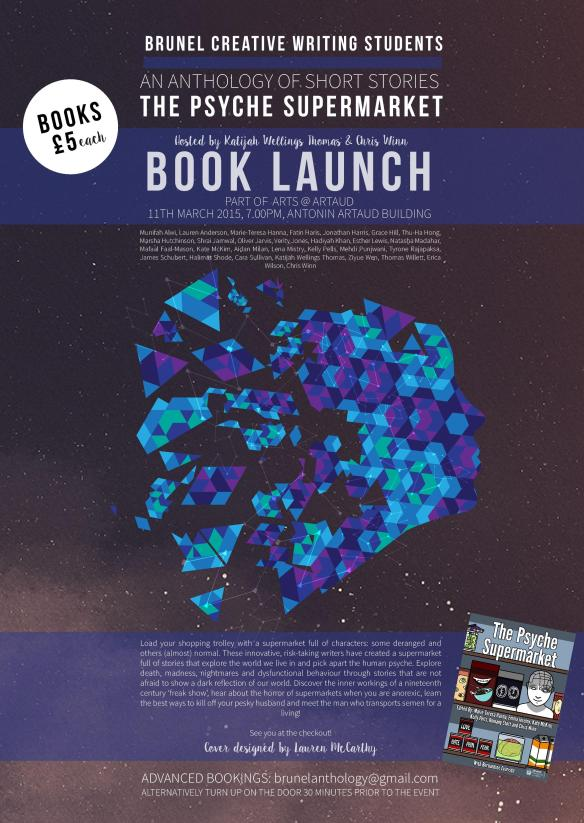 A3 Anthology Book Launch Poster x100