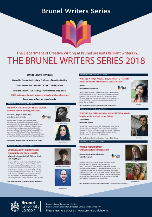 WRITERS SERIES TERM 2 2018